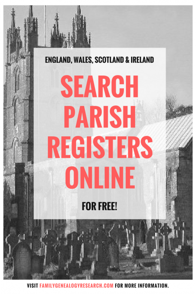 Search Parish Registers Online For Free